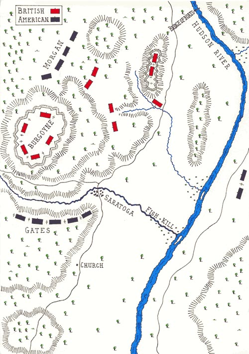 The Battle Of Saratoga SecondBemis Heights - Battle of saratoga us maps
